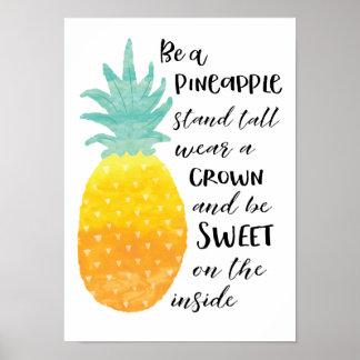 Soyez un ananas posters
