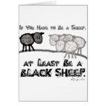 Soyez un mouton noir 2 cartes de vœux