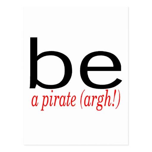 Soyez un pirate (Argh) Cartes Postales