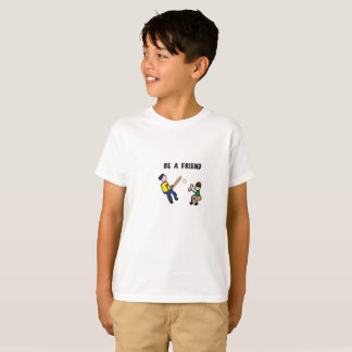"""Soyez un T-shirt de base-ball de jeu d'ami"" -"