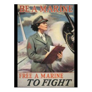 Soyez une deuxième guerre mondiale marine cartes postales
