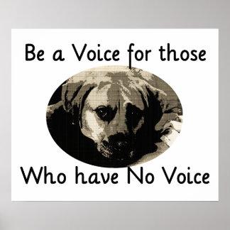 Soyez une voix posters