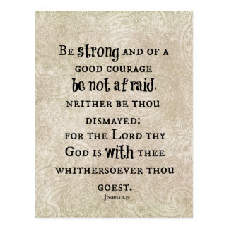 Soyez vers fort de bible carte postale