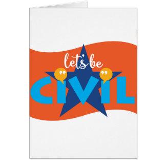Soyons carte de voeux civile