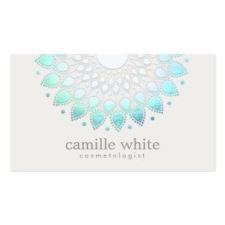Spa blanc élégant et beauté de Lotus de Carte De Visite Standard