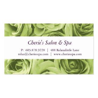 Spa - carte de visite de roses verts de chaux de s