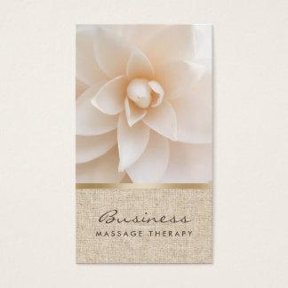 Spa curatif chic de fleur et de toile de jute de cartes de visite