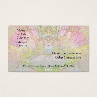 Spa d'arbre en soie et carte de profil de salon
