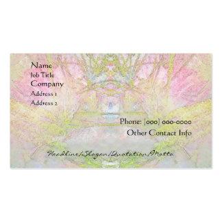 Spa d'arbre en soie et carte de profil de salon carte de visite standard