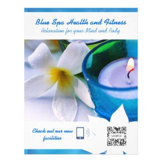 Spa de bleu de modèle d'insecte prospectus en couleur