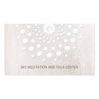 Spa de santé de professeur de yoga et de carte de visite standard
