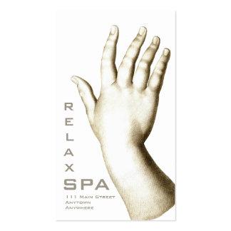 SPA élégant de main et de pied, manucure, Carte De Visite Standard