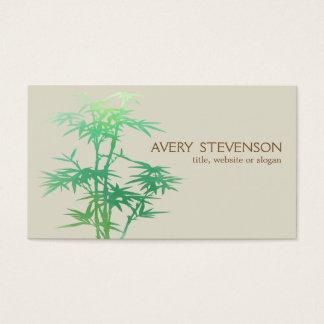 Spa en bambou vert élégant simple de santé de cartes de visite