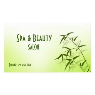 Spa et carte de visite de beauté