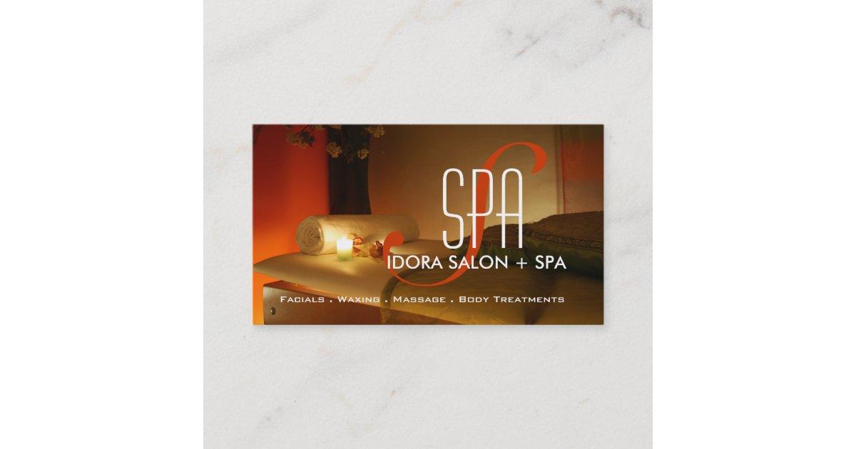 spa et mod u00e8le de carte de visite de massage