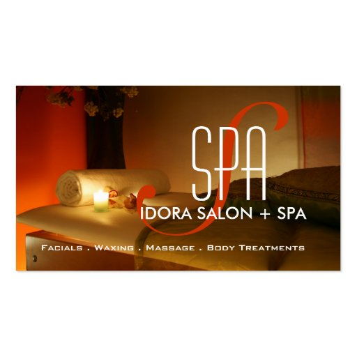 Spa et modèle de carte de visite de massage