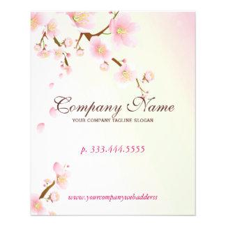 Spa naturel de fleur florale doucement de rose et prospectus 11,4 cm x 14,2 cm