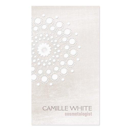 Spa naturel et organique de rosette blanche de cartes de visite personnelles