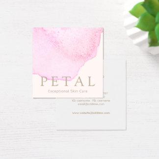 Spa rose élégant de soins de la peau de pétale de carte de visite carré