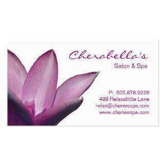 Spa - violette de carte de visite de thérapie de m