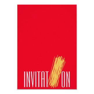 Spaghetti d'Italien d'aliment biologique Carton D'invitation 8,89 Cm X 12,70 Cm