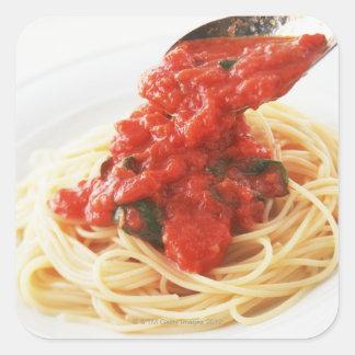 Spaghetti Pomodoro Sticker Carré