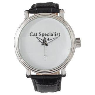 Spécialiste en chat à l'intérieur montres bracelet