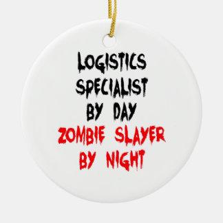 Spécialiste en logistique de tueur de zombi ornement rond en céramique