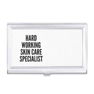 Spécialiste travaillant dur en soins de la peau porte-cartes de visite