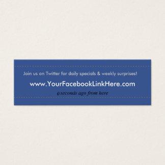 *Specials de carte de visite de profil de Facebook