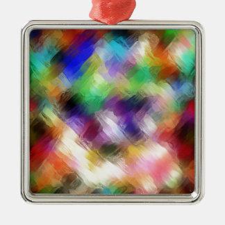 Spectre Painterly abstrait Ornement Carré Argenté