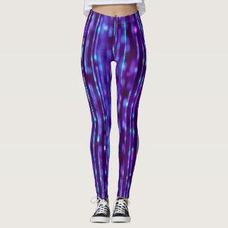 Spectre pourpre et argenté de conception abstraite leggings