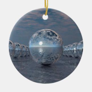 Sphères au soleil ornement rond en céramique