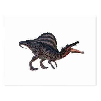 Spinosaurus s'accroupissant et semblant féroce carte postale