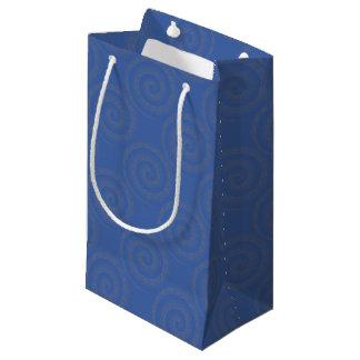spirale (bleu) petit sac cadeau