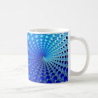 Spirale bleue d'huître mug