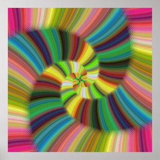 Spirale colorée affiche