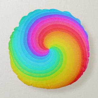 Spirale d'arc-en-ciel de carreau d'espoir coussins ronds