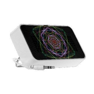 Spirale d'arc-en-ciel haut-parleur mobile
