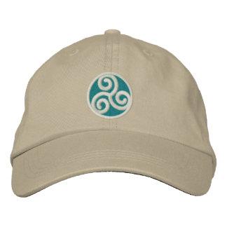 Spirale de Celtic de Triskele Casquette Brodée