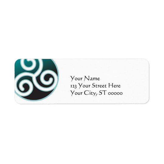 Spirale de Celtic de Triskele Étiquette D'adresse Retour