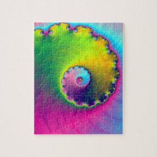 Spirale de lavage de couleur de puzzle