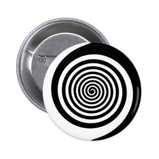 Spirale hypnotique noire et blanche pin's