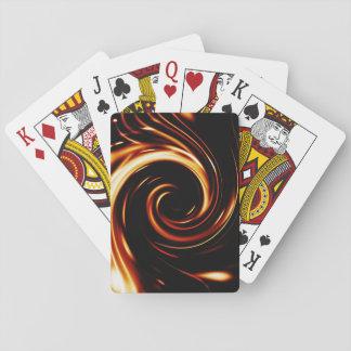 Spirale liquide d'or jeu de cartes