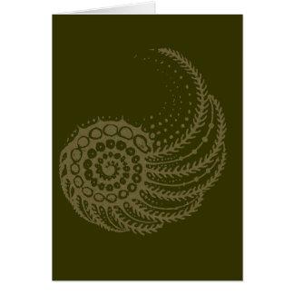 Spirale organique bronzage carte de vœux