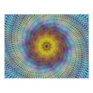 Spirale psychédélique carte postale