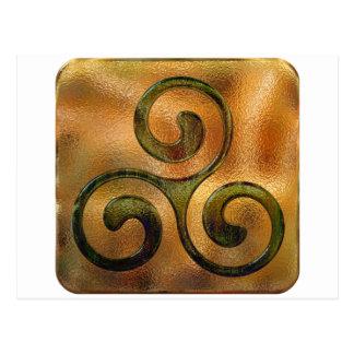 spirales celtiques carte postale