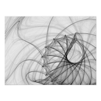 Spirales et épines d'encre poster