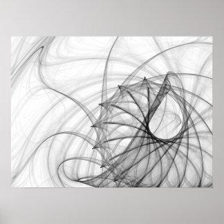 Spirales et épines d'encre posters