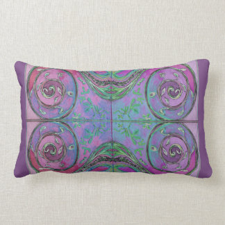 Spirales pourpres coussin rectangle